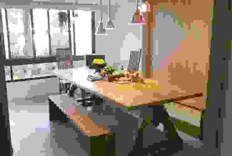 內湖康寧丁公館 現代廚房設計點子、靈感&圖片 根據 第宅空間設計 現代風