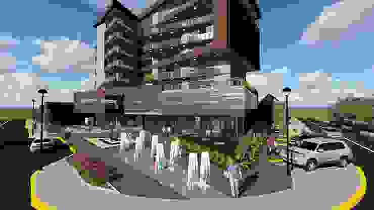 Plaza de acceso de Vida Arquitectura Moderno Piedra