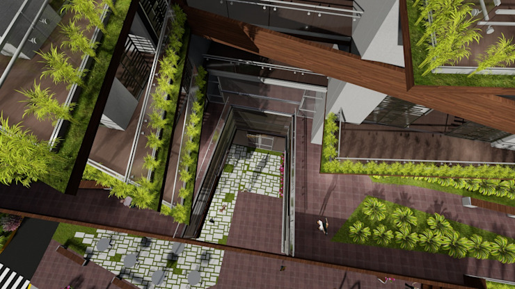 Vista superior de Vida Arquitectura Moderno Ladrillos