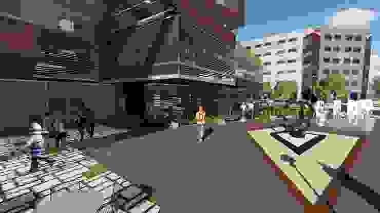 Edificio multifamiliar. Arquitectura Bioclimatica Balcones y terrazas de estilo moderno de Vida Arquitectura Moderno Azulejos