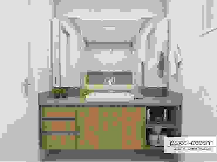 ห้องน้ำ โดย Arquiteta Jéssica Hoegenn - Arquitetura de Interiores, โมเดิร์น