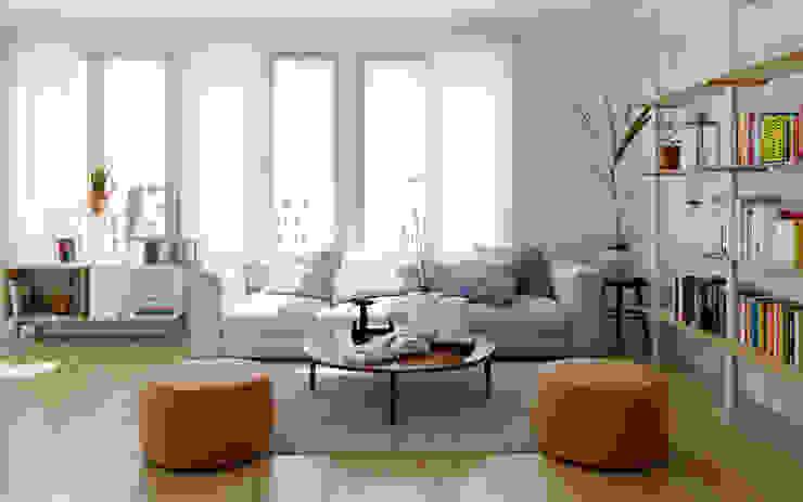 Renders de Interiores Livings de estilo moderno de Valantia Studio Moderno
