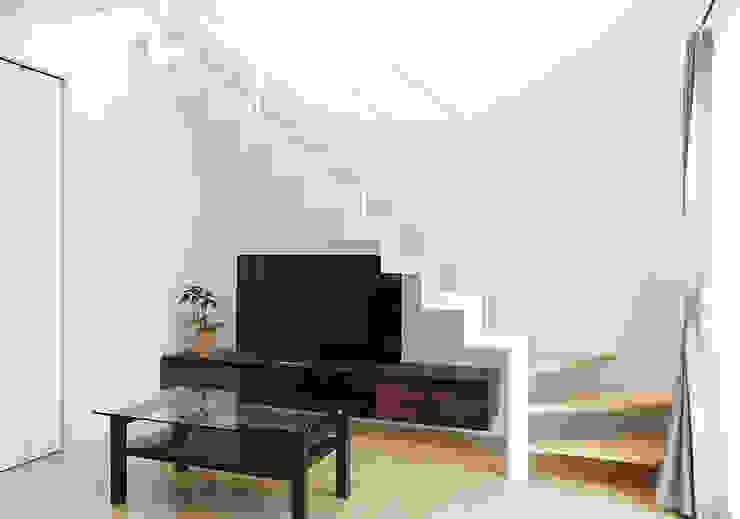 上手にスペース利用する。 LobeSquare 階段 金属 白色