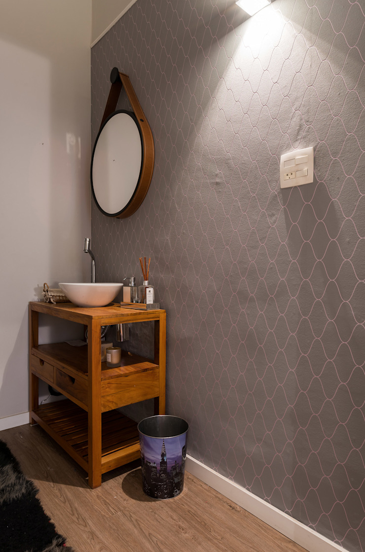 Studio Ideação Ruang Komersial Modern Kayu Purple/Violet
