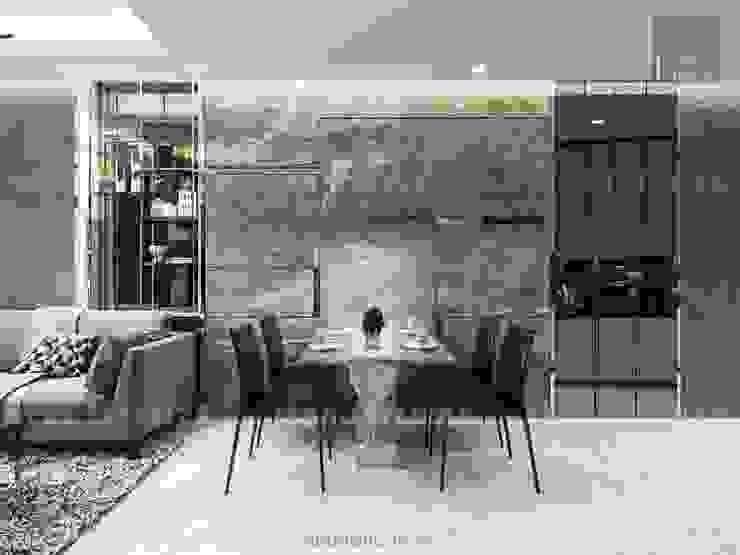 Nội thất chung cư cao cấp Vinhomes Central Park Phòng ăn phong cách hiện đại bởi ICON INTERIOR Hiện đại