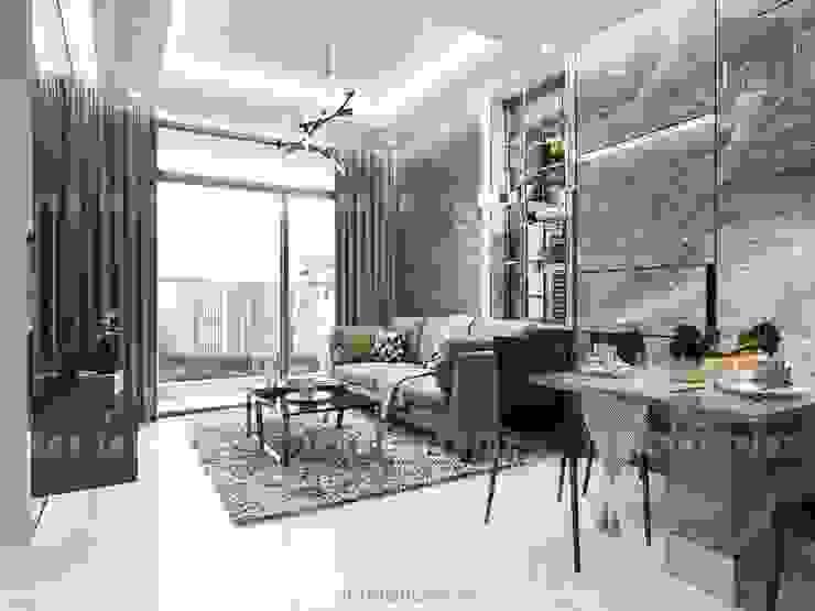 Nội thất chung cư cao cấp Vinhomes Central Park bởi ICON INTERIOR Hiện đại