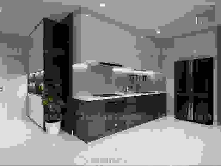 Nội thất chung cư cao cấp Vinhomes Central Park Nhà bếp phong cách hiện đại bởi ICON INTERIOR Hiện đại