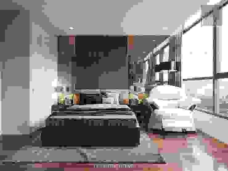 Nội thất chung cư cao cấp Vinhomes Central Park Phòng ngủ phong cách hiện đại bởi ICON INTERIOR Hiện đại