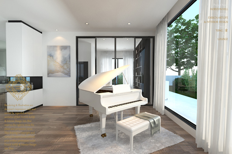 Music space Modern style media rooms by Enrich Artlife & Interior Design Sdn Bhd Modern