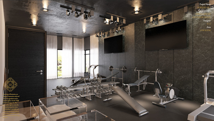 Gym room Modern gym by Enrich Artlife & Interior Design Sdn Bhd Modern