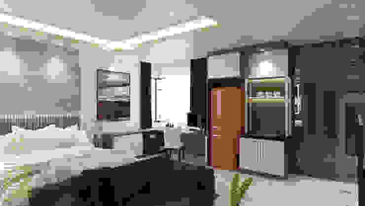 Bedroom with walk-in wardrobe Modern style bedroom by Enrich Artlife & Interior Design Sdn Bhd Modern