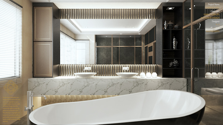 Master Bath Modern style bathrooms by Enrich Artlife & Interior Design Sdn Bhd Modern