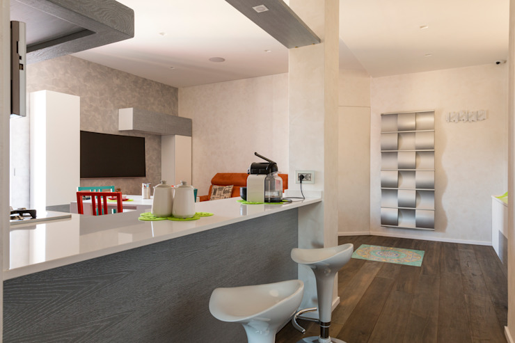 PRENESTINO a2 Studio Borgia - Romagnolo architetti Ingresso, Corridoio & Scale in stile moderno