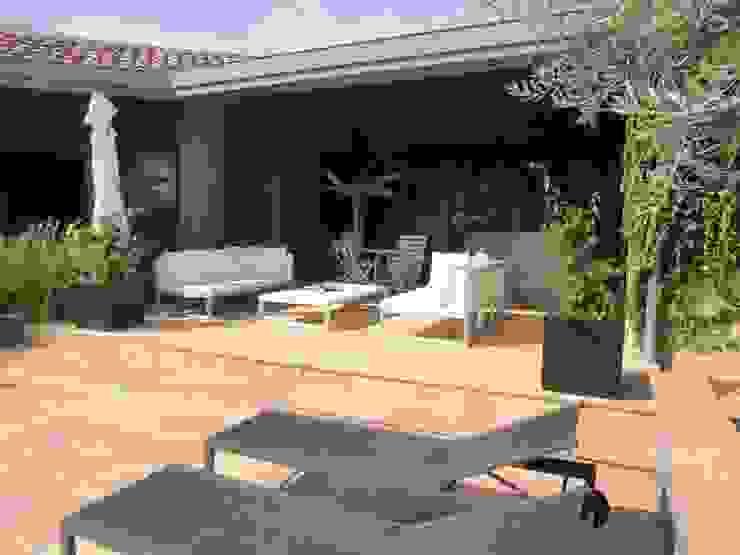 Akdeniz Balkon, Veranda & Teras KAEL Createur de jardins Akdeniz