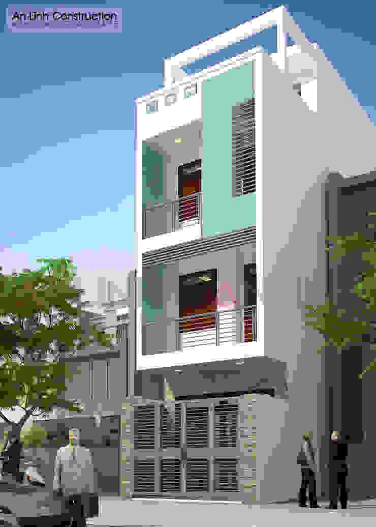 Mẫu thiết kế nhà phố tại quận Gò Vấp bởi CÔNG TY THIẾT KẾ XÂY DỰNG AN LĨNH