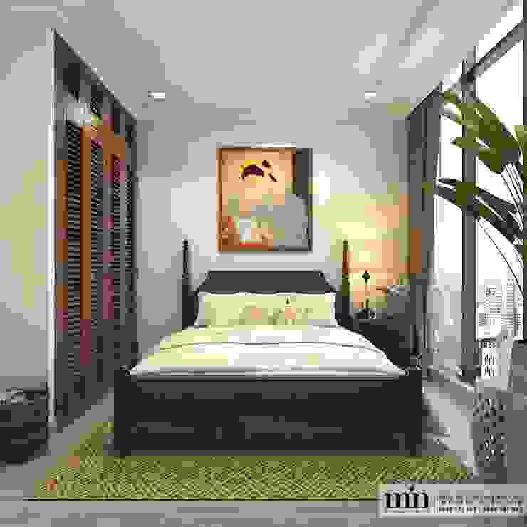 Vinhomes Golden River Apart Phòng ngủ phong cách tối giản bởi Min Decor Tối giản