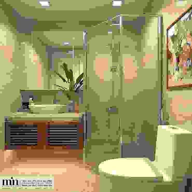 Vinhomes Golden River Apart Phòng tắm phong cách tối giản bởi Min Decor Tối giản