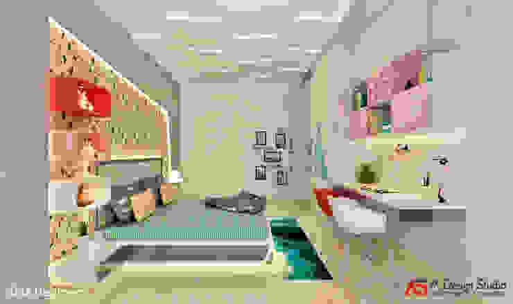 KIDS BEDROOM Minimalist bedroom by A Design Studio Minimalist MDF