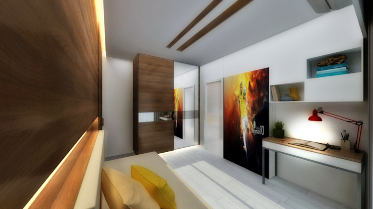 YOUNGSTERS BEDROOM Modern style bedroom by A Design Studio Modern Wood Wood effect