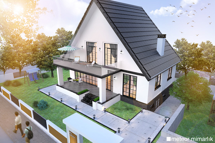 VİLLA | TINY HOUSE | KÜÇÜK EV Meteor Mimarlık & Tasarım Modern Evler