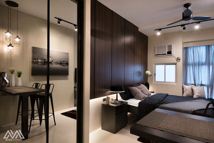 Modern Lux—Wil Tower QC Modern style bedroom by MVRX Designs Modern