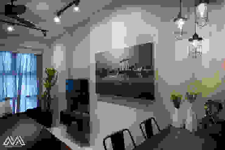 Modern Lux—Wil Tower QC Modern dining room by MVRX Designs Modern