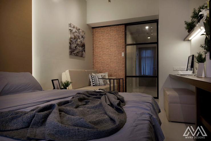 Brooklyn Vibe—The Currency Industrial style bedroom by MVRX Designs Industrial