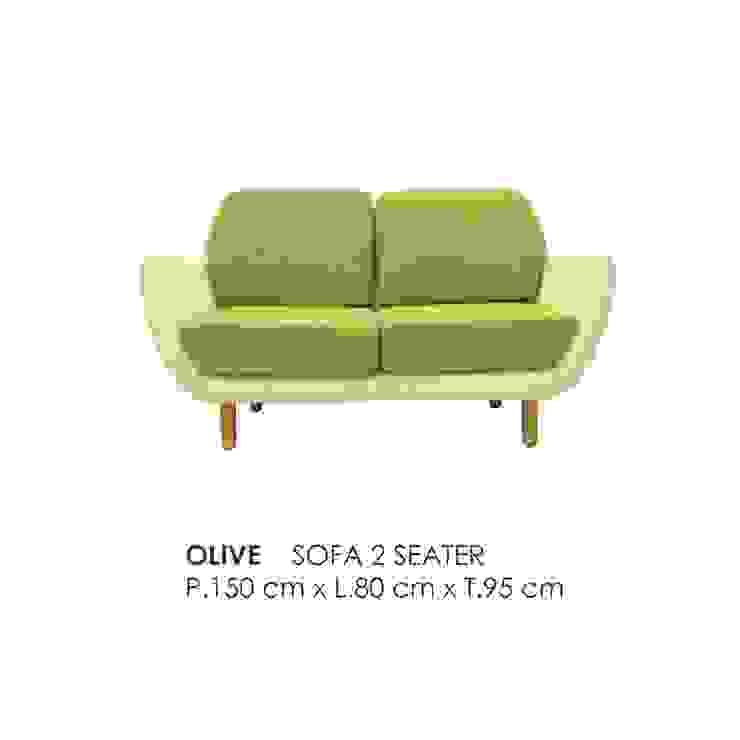 OLIVE SOFA 2 SEATER Oleh VIKU FURNITURE & INTERIOR DESIGN Skandinavia