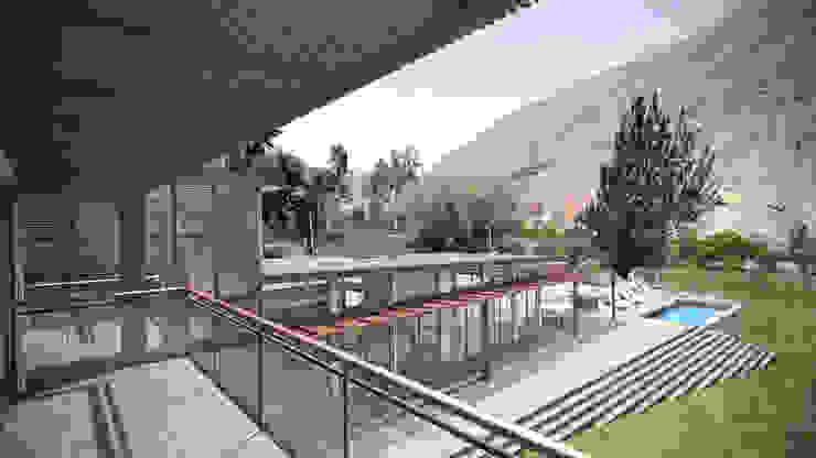 Casa ''La Pendiente'' Balcones y terrazas modernos de Artem arquitectura Moderno