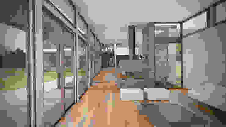 Casa ''La Pendiente'' Salas modernas de Artem arquitectura Moderno