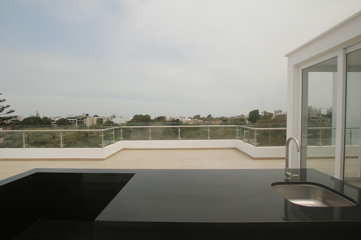 Varandas, marquises e terraços minimalistas por Artem arquitectura Minimalista