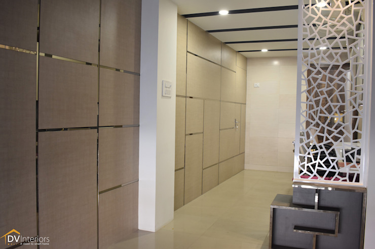Stylized Modern Office Interior Project Modern offices & stores by DV Interiors Modern