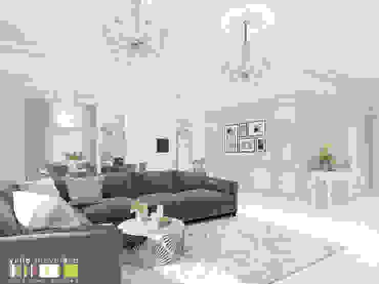 Salones de estilo clásico de Мастерская интерьера Юлии Шевелевой Clásico