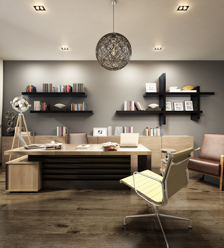 CEO Office Design by TK Designs Modern Solid Wood Multicolored