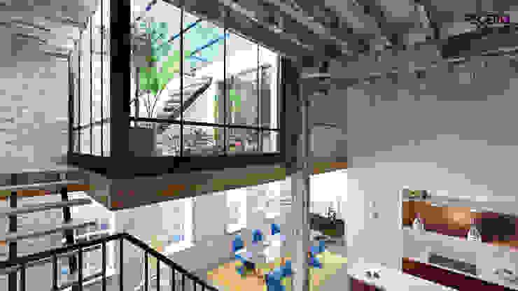CERRAMIENTO TERRAZA INVERNADERO Balcones y terrazas de estilo moderno de homify Moderno Hierro/Acero