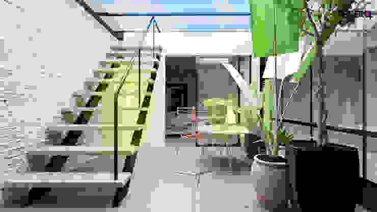TERRAZA CUBIERTA INVERNADERO Balcones y terrazas de estilo moderno de homify Moderno Hormigón reforzado