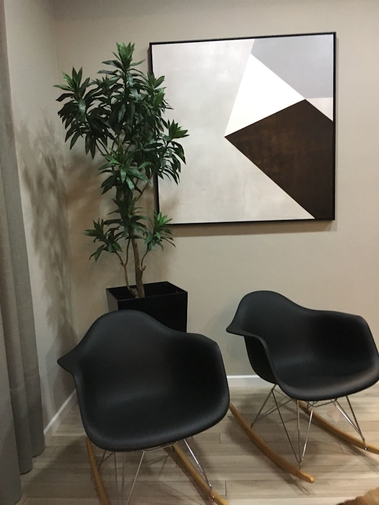 Hall, Escritório ou Recepção por Sgabello Interiores Moderno de madeira e plástico