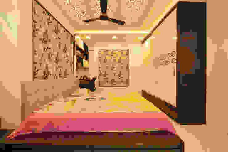 Mr Swapnil Choudhary Modern style bedroom by GREEN HAT STUDIO PVT LTD Modern Plywood