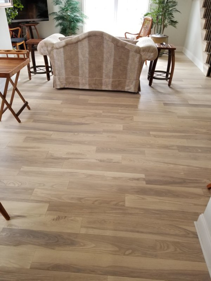 Pre-finished Ash Flooring Modern Living Room by Shine Star Flooring Modern