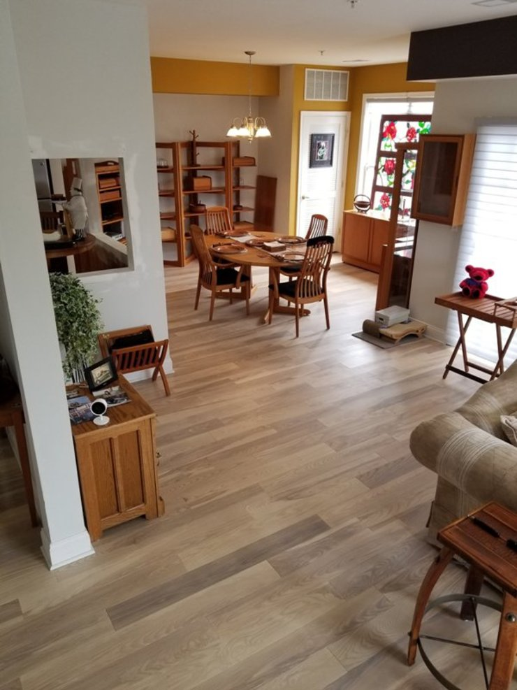 Pre-finished Ash Flooring Modern Dining Room by Shine Star Flooring Modern