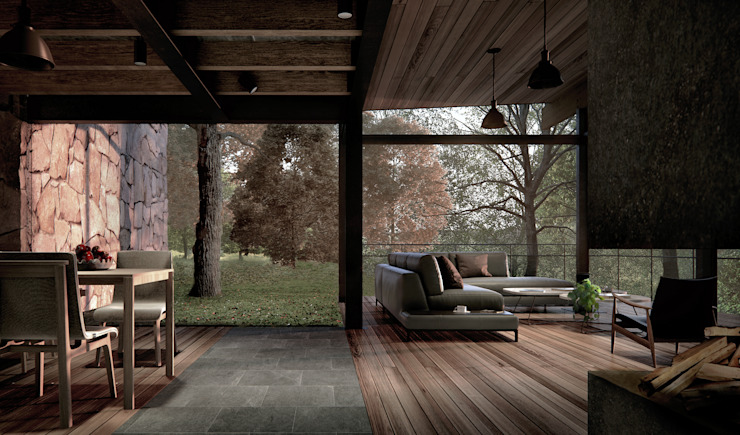 Eclectic style living room by JCh Arquitectura Eclectic