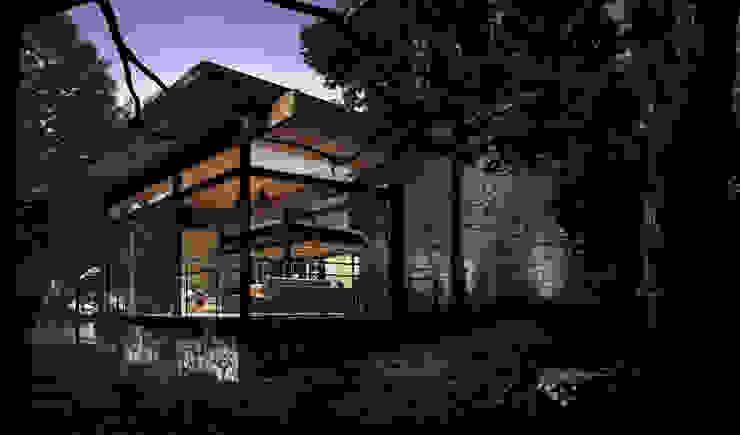 CASA TUL. Balcones y terrazas eclécticos de JCh Arquitectura Ecléctico