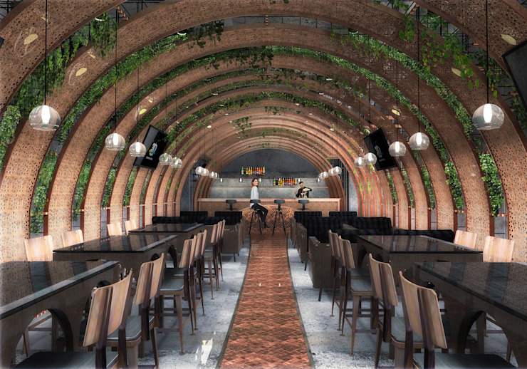 Comeandse Coffee and Dessert Cafe Modern bars & clubs by TheeAe Architects Modern Metal