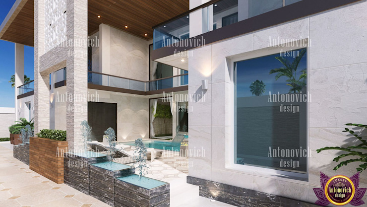 ​Architectural design solutions of Katrina Antonovich Modern houses by Luxury Antonovich Design Modern