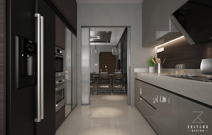 KITCHEN AREA:  Kitchen by Zeitlus Design