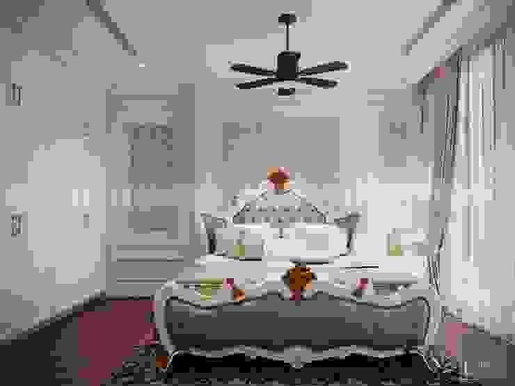 Phong cách Cổ điển trong thiết kế nội thất căn hộ Vinhomes Central Park Phòng ngủ phong cách kinh điển bởi ICON INTERIOR Kinh điển
