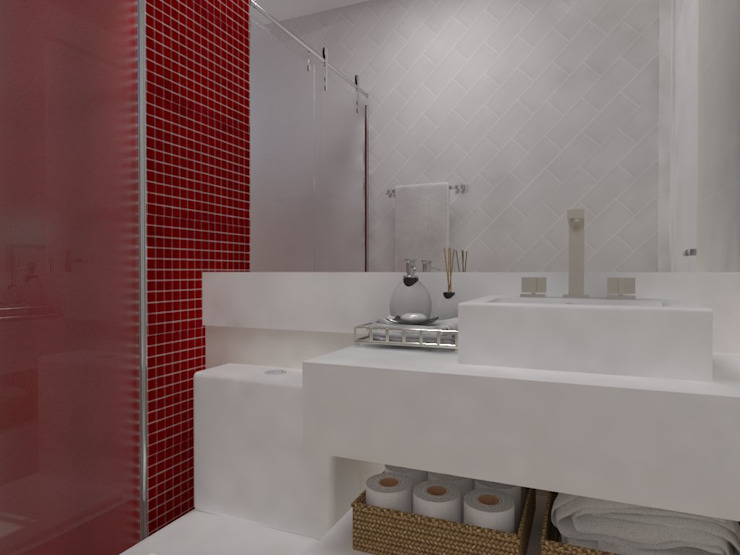 Bathroom by Thainá Ramos, Modern