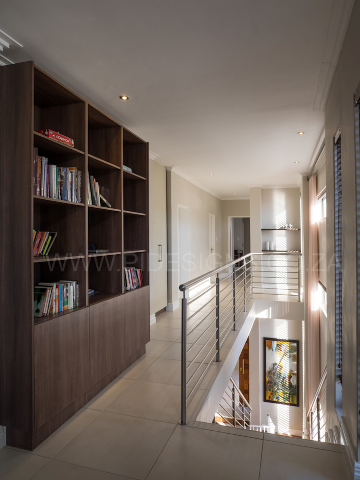 HOUSE DLAMINI Modern Corridor, Hallway and Staircase by Première Interior Designs Modern