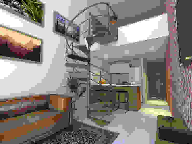 Vista Sala / Cocina Salas modernas de Gliptica Design Moderno Cerámico