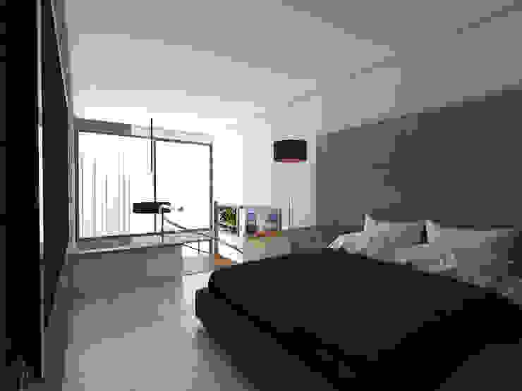 Vista Alcoba Habitaciones modernas de Gliptica Design Moderno Cerámico